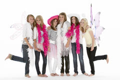 Group Of Teenage Girlfriends Dressing Up Stock Image