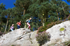 Group Of Teenage Girls Hiking In Countryside Royalty Free Stock Photo