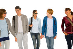 Group of teenage students Royalty Free Stock Photo
