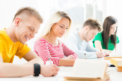 Group of teenage students at the exam Royalty Free Stock Photos