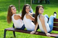 Group of teenager girl Stock Photo