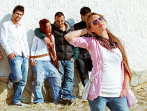Group of teenagers. Stock Image