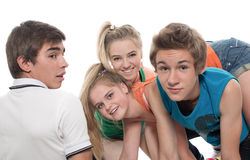 Group of teenagers Stock Photography