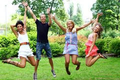 Group of teenagers boys and girls Stock Photography