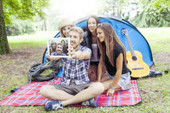 Group of teenagers are doing selfie Royalty Free Stock Photography