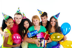Group of teenagers isolated Stock Photography