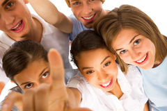 Group of teenagers looking at camera Royalty Free Stock Images