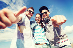 Group of teenagers outside Royalty Free Stock Images
