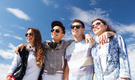 Group of teenagers outside Stock Photo