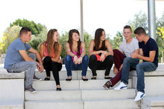 Group of teenagers Royalty Free Stock Photo