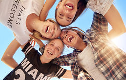 Group of teenagers Royalty Free Stock Photos