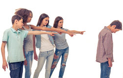 Group of teenagers Royalty Free Stock Image