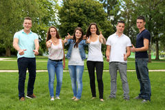 Group of teenagers Stock Photo