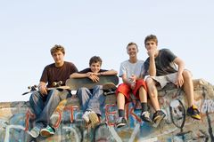 Group of teens Royalty Free Stock Photo