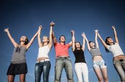 Group of teens stock photos