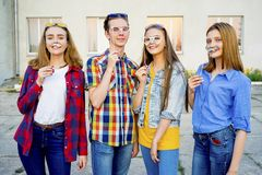 Teens having a party Royalty Free Stock Images