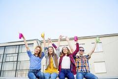 Teens having a party Royalty Free Stock Photos