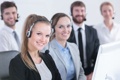 Group of telemarketers Stock Photography