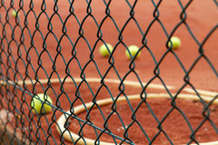 Group of Tennis balls Stock Photo