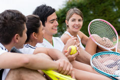 Group of tennis players Stock Photography