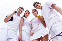 Group of tennis players Stock Images