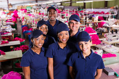 Group textile workers Stock Photography