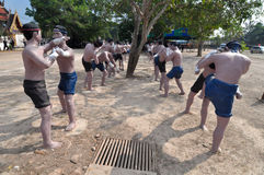 Group of Thai boxer statue, Thailand. Group of Thai boxer statue in Thailand Stock Image