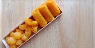 Group of Thai sweet desserts. stock photos