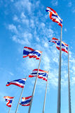 Group of Thailand national flags Stock Photos