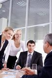 Group and their leader Royalty Free Stock Image