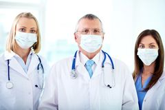 Group of therapeutists Stock Image
