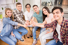 Group therapy. Addicted people having good time together on special group therapy Stock Image