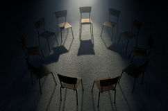 Group Therapy Chairs Royalty Free Stock Images