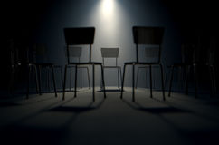 Group Therapy Chairs Stock Images