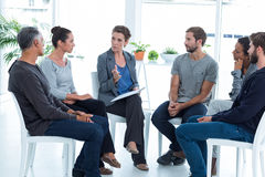 Free Group Therapy In Session Sitting In A Circle Royalty Free Stock Photo - 54776355