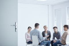 Group therapy for PTSD. People participating in group therapy for PTSD Royalty Free Stock Photography