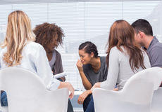 Group therapy. And therapist together Royalty Free Stock Photo