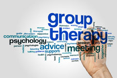 Group therapy word cloud Royalty Free Stock Image