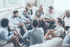 Group therapy. Royalty Free Stock Image