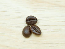 The group of thin coffee beans Royalty Free Stock Photos