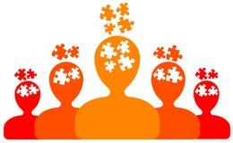 Group thinking stock illustration