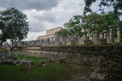 Group of a Thousand Columns and Temple of the Warriors, Chichen- Stock Photography