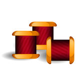 Group of thread reels isolated Royalty Free Stock Photography