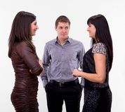 Group of three business people Stock Photography