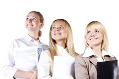 Group of three confident businesswoman smiling Royalty Free Stock Images