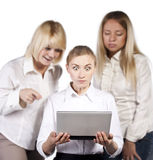 Group of three confident businesswoman smiling Royalty Free Stock Image