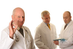 A group of three Doctors Royalty Free Stock Images