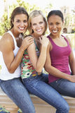Group Of Three Female Friends Having Fun Together Royalty Free Stock Photography