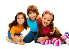 Small group of little kids Stock Photo