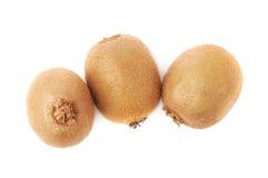 Group of three kiwifruits isolated Royalty Free Stock Photography